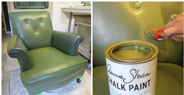 painting-stencil-leather-club-chair-chalk-paint-diy-painted-furniture